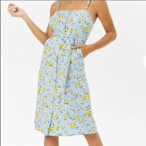 Forever 21 midi floral dress Small